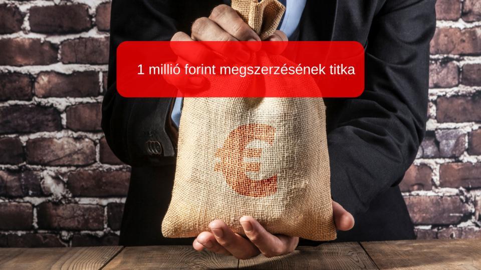 gyorsan milliót keresni rövid idő alatt)